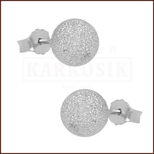 Srebrne kolczyki z cyrkoniami - Kule pr.925