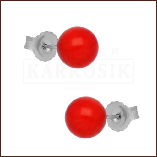 Srebrne kolczyki - Czerwone Korale pr.925