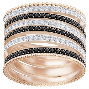 Pierścionek SWAROVSKI - Luxury Domed Ring, Rose Gold 5412035 58