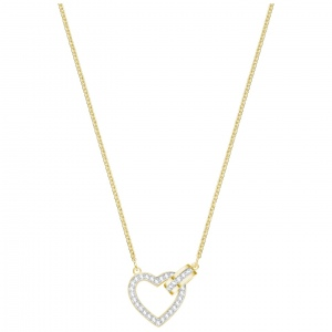 Naszyjnik SWAROVSKI - Lovely Necklace, White, Gold 5405576