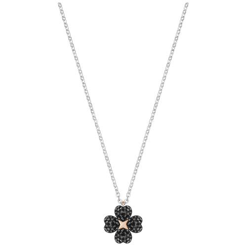 Naszyjnik SWAROVSKI - Latisha Flower Pendant, Black 5368980