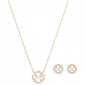 Zestaw SWAROVSKI - Sparkling Flower Set, Rose gold 5408439