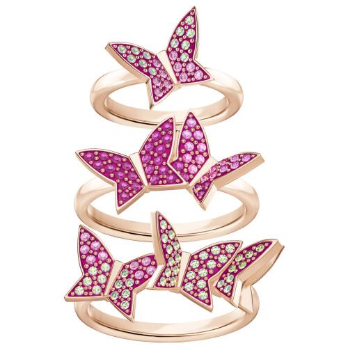 Zestaw Pierścionków SWAROVSKI - Lilia Ring Set, Rose gold 5384892