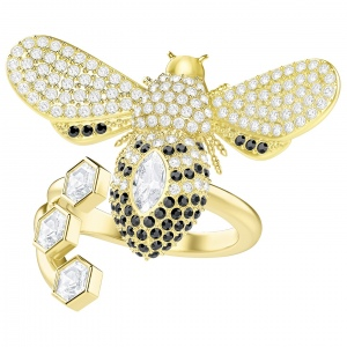 Pierścionek SWAROVSKI - Lisabel Ring, Gold 5390697 55