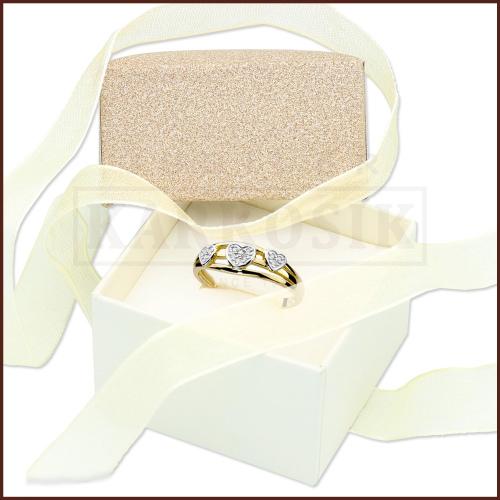 Pudełeczko ozdobne na pierścionek - Brokatowe z Tasiemką