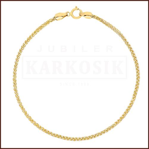 Złota Bransoletka Lisi Ogon 18cm pr.585