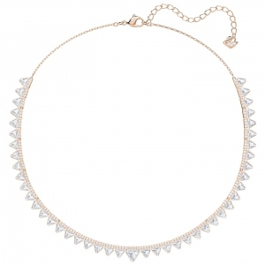 Naszyjnik SWAROVSKI - Lima Necklace, White, Rose gold plating 5379020