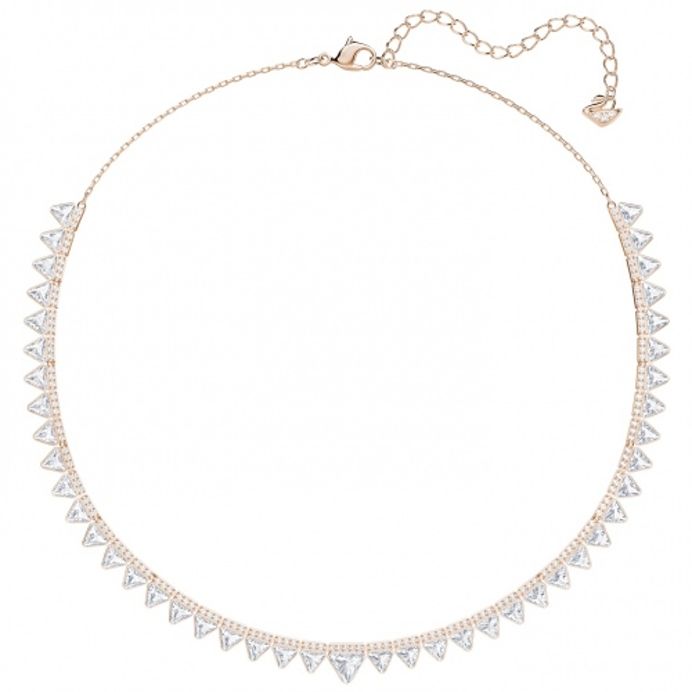 Naszyjnik SWAROVSKI - Lima Necklace, White, Rose gold plating 5379020