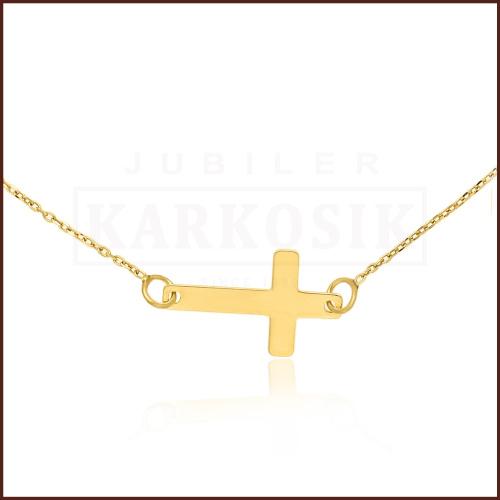 Złoty Naszyjnik Celebrytka Krzyżyk pr.585