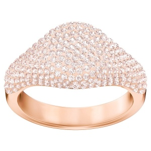 Pierścionek SWAROVSKI - Stone Signet Ring, Pink, Rose gold plating 5406219 55