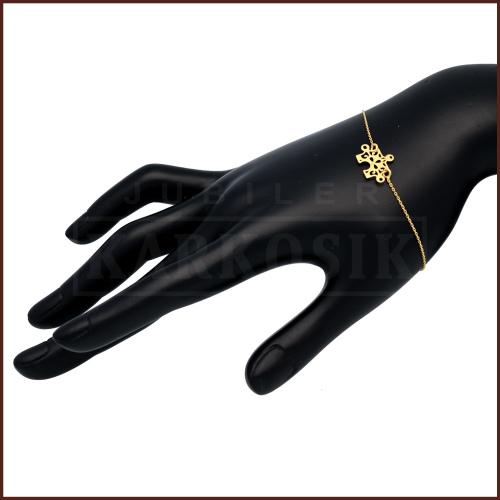 Złota Bransoletka Celebrytka - Ażurowy Puzzel pr. 585