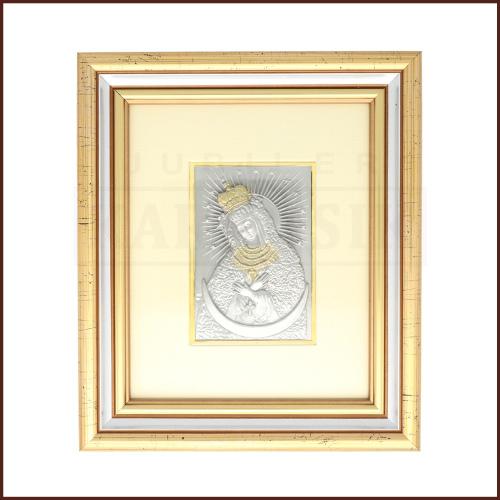 Srebrny Obrazek Matka Boska