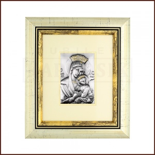 Srebrny Obrazek Matka Boska z Dzieciątkiem