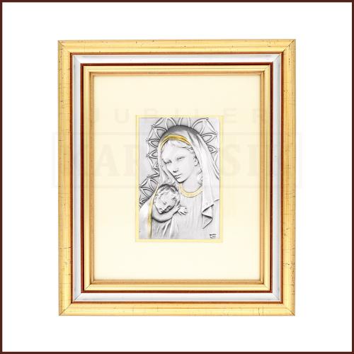 Srebrny Obrazek Madonna z Dzieciątkiem