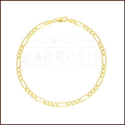 Złota Bransoletka Figaro 19cm pr.585