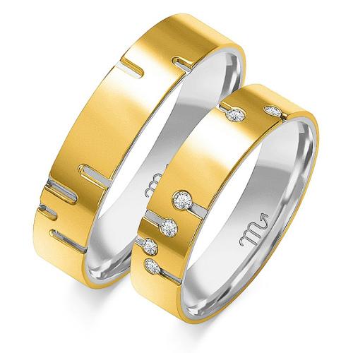 Obrączki ślubne Złoty Skorpion wzór OP-5 5mm pr. 585