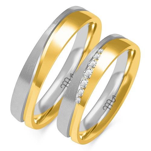 Obrączki ślubne Złoty Skorpion wzór OE-222 5mm pr. 585