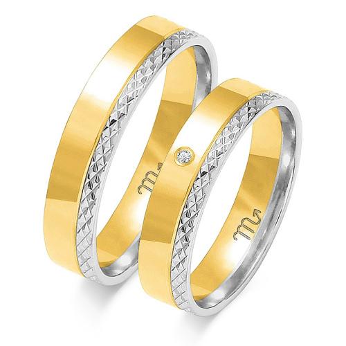 Obrączki ślubne Złoty Skorpion wzór OE-199 5mm pr. 585