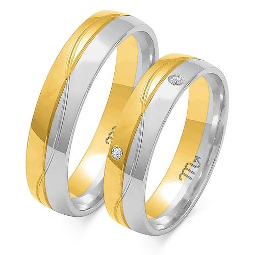 Obrączki ślubne Złoty Skorpion wzór OE-194 5mm pr. 585