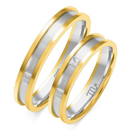 Obrączki ślubne Złoty Skorpion wzór OE-180 4mm pr. 585