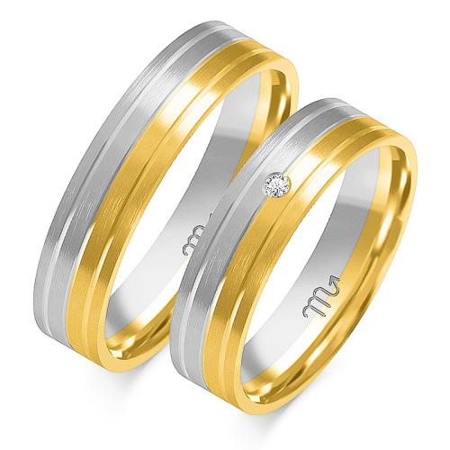 Obrączki ślubne Złoty Skorpion wzór OE-182 5mm pr. 585
