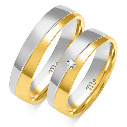 Obrączki ślubne Złoty Skorpion wzór OE-175 5mm pr. 585