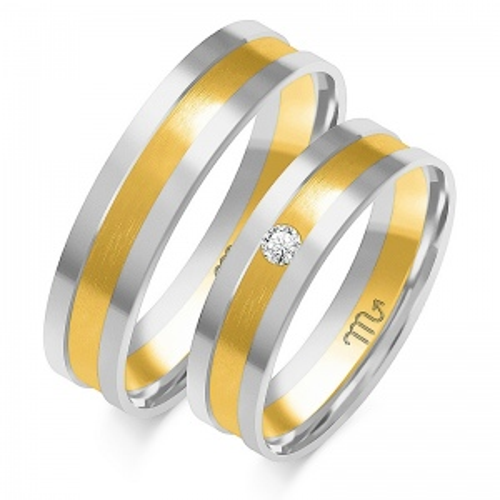 Obrączki ślubne Złoty Skorpion wzór OE-139 5mm pr. 585
