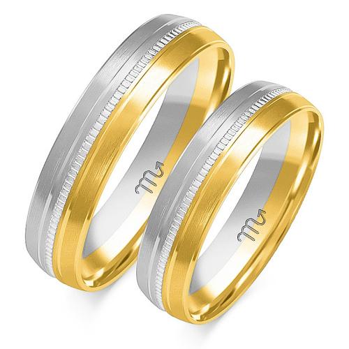 Obrączki ślubne Złoty Skorpion wzór OE-134 5mm pr. 585