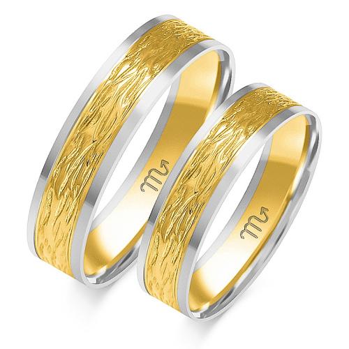 Obrączki ślubne Złoty Skorpion wzór OE-128 5mm pr. 585