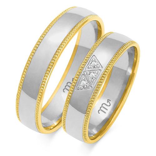 Obrączki ślubne Złoty Skorpion wzór OE-101 5mm pr. 585