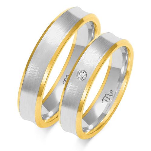 Obrączki ślubne Złoty Skorpion wzór OE-79 5mm pr. 585