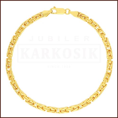 Złota Bransoletka - Bizancjum22cm pr. 585