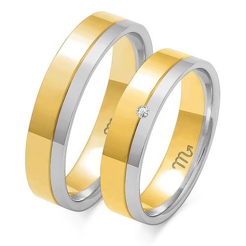 Obrączki ślubne Złoty Skorpion wzór OE-10 5mm pr. 585