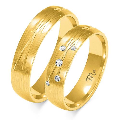 Obrączki ślubne Złoty Skorpion wzór O-137 5mm pr. 585