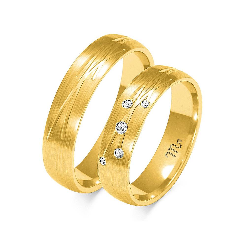 Obrączki ślubne Złoty Skorpion wzór O-137 5mm pr. 333