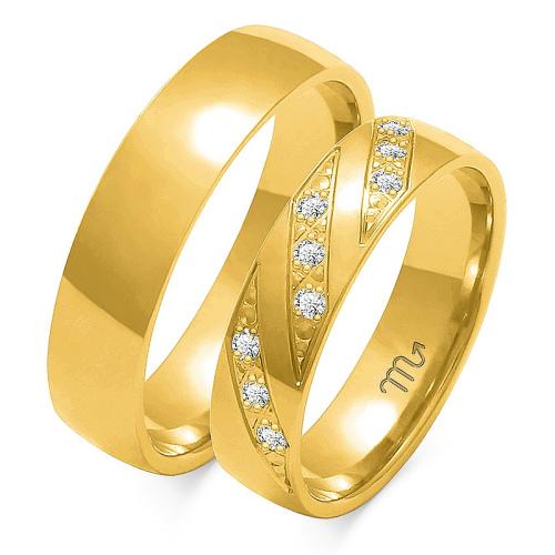 Obrączki ślubne Złoty Skorpion wzór O-136 5mm pr. 585