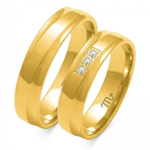 Obrączki ślubne Złoty Skorpion wzór O-134 5mm pr. 585