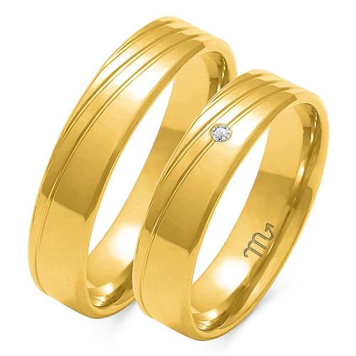Obrączki ślubne Złoty Skorpion wzór O-133 5mm pr. 585
