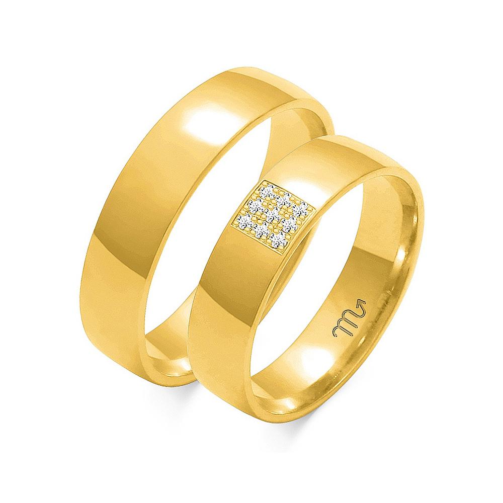 Obrączki ślubne Złoty Skorpion wzór O-129 5mm pr. 585