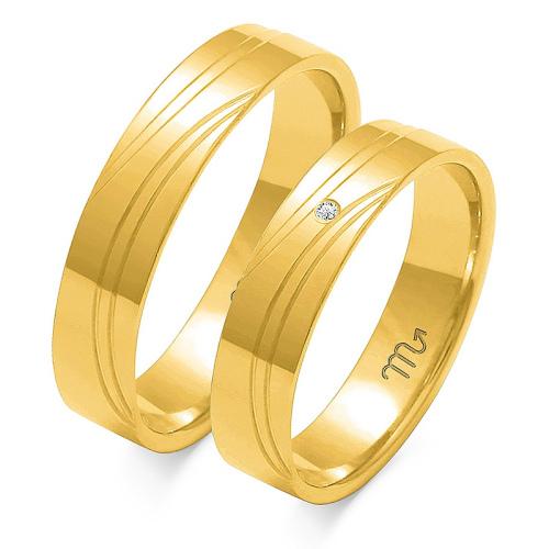 Obrączki ślubne Złoty Skorpion wzór O-125 5mm pr. 333