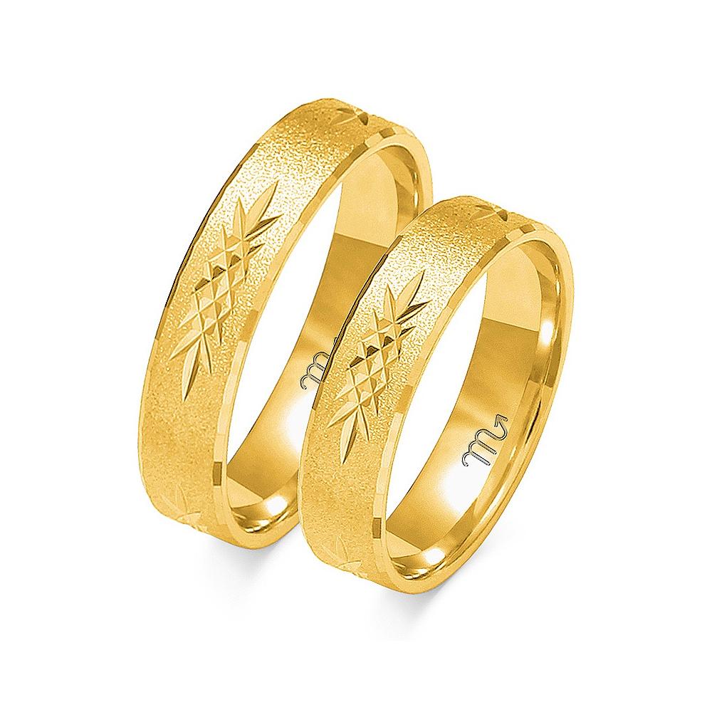 Obrączki ślubne Złoty Skorpion wzór O-117 5mm pr. 585