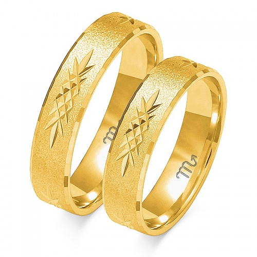 Obrączki ślubne Złoty Skorpion wzór O-117 5mm pr. 333