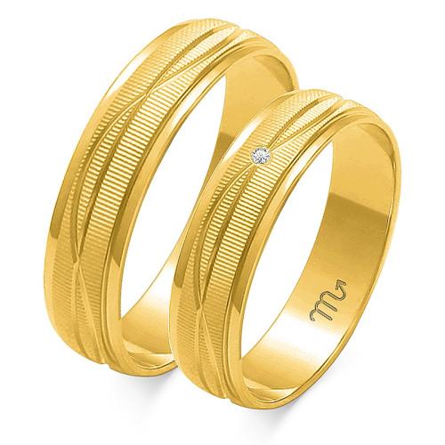Obrączki ślubne Złoty Skorpion wzór O-116 5mm pr. 585