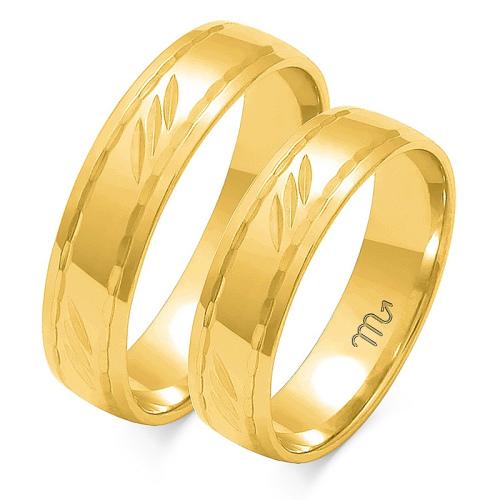 Obrączki ślubne Złoty Skorpion wzór O-109 5mm pr. 333