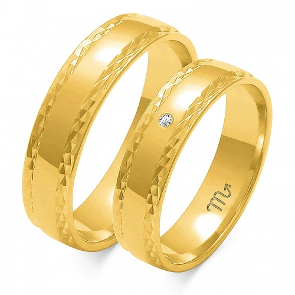 Obrączki ślubne Złoty Skorpion wzór O-104 5mm pr. 333