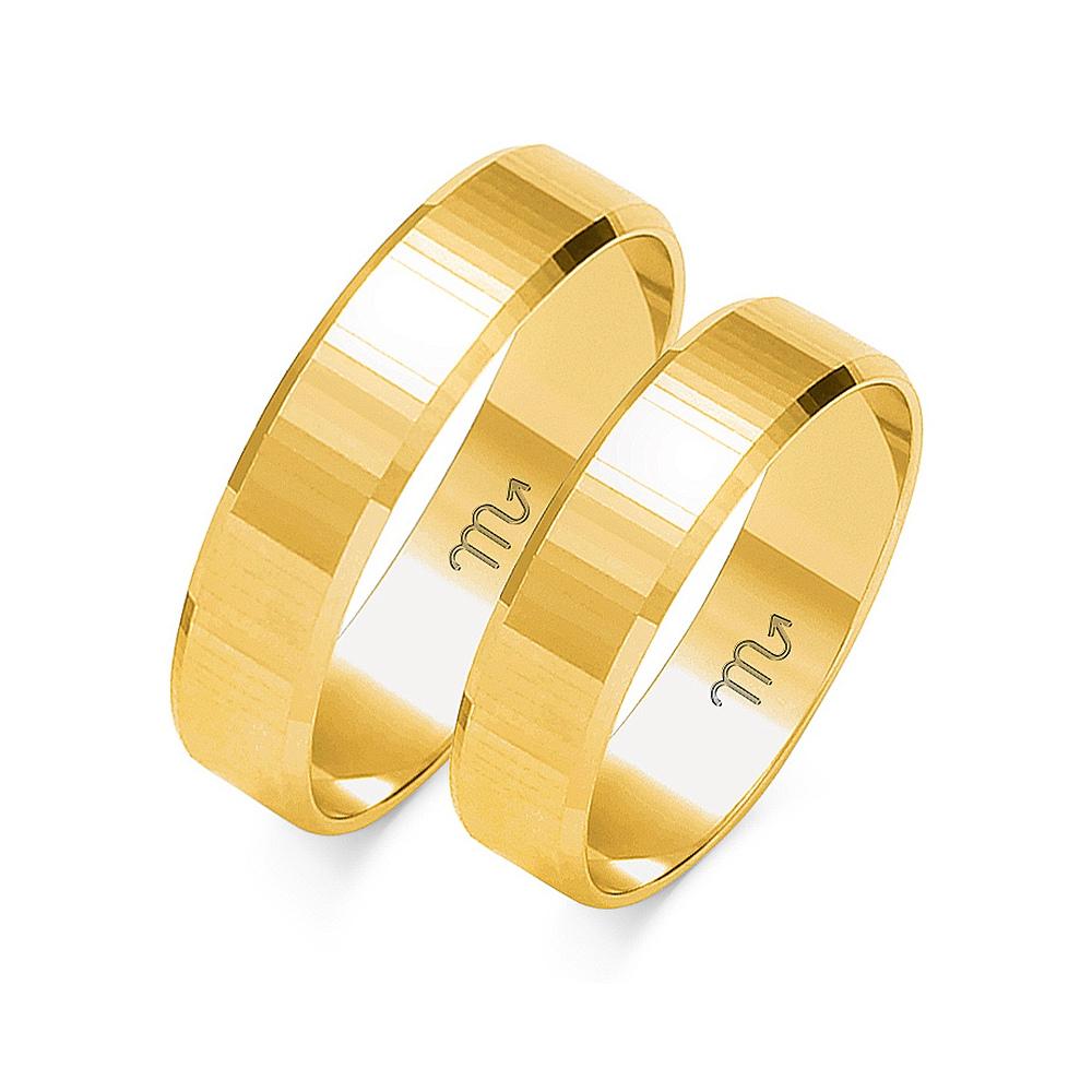 Obrączki ślubne Złoty Skorpion wzór O-102 5mm pr. 585