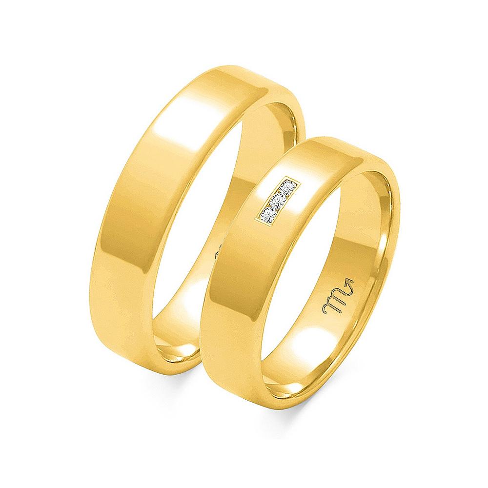 Obrączki ślubne Złoty Skorpion wzór O-101 5mm pr. 585