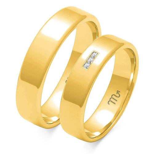 Obrączki ślubne Złoty Skorpion wzór O-101 5mm pr. 333