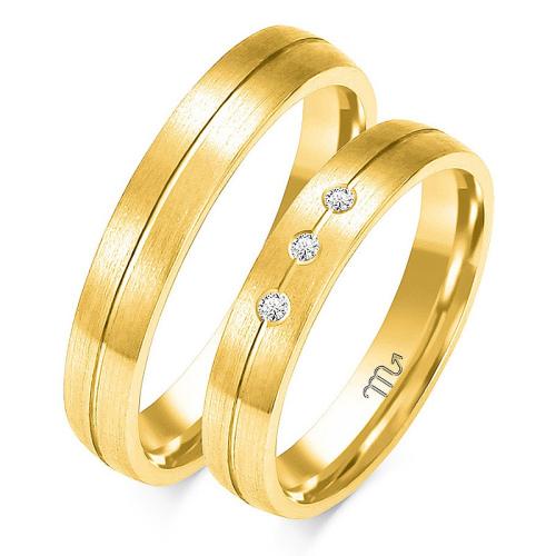 Obrączki ślubne Złoty Skorpion wzór O-97 4mm pr. 585