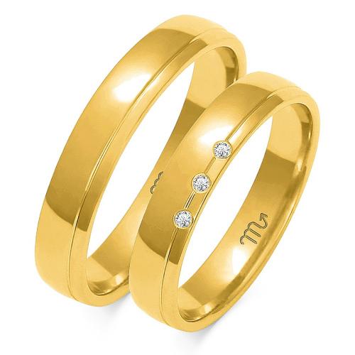 Obrączki ślubne Złoty Skorpion wzór O-90 4mm pr. 585